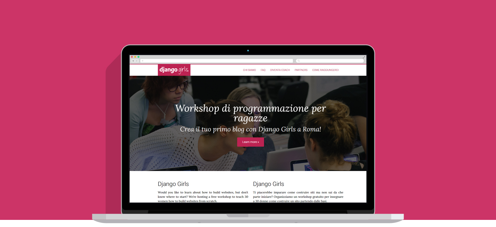Sito web Django Girls Rome