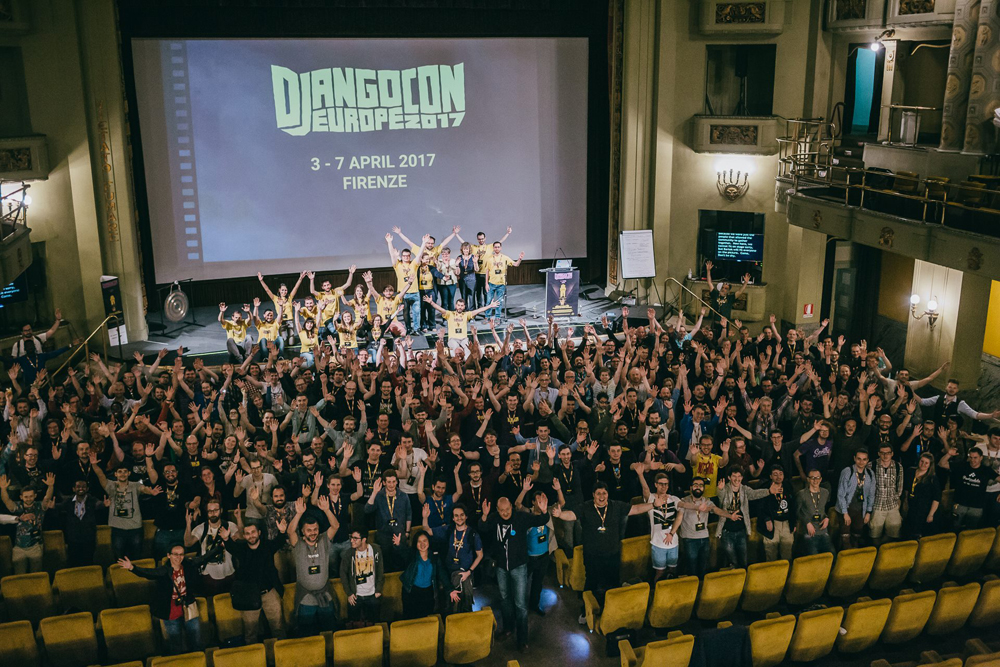 DjangoCon Europe 2017 closing ceremony