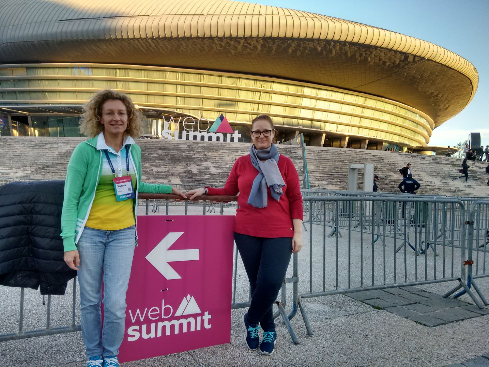 Viviana and Emanuela at Web Summit 2017