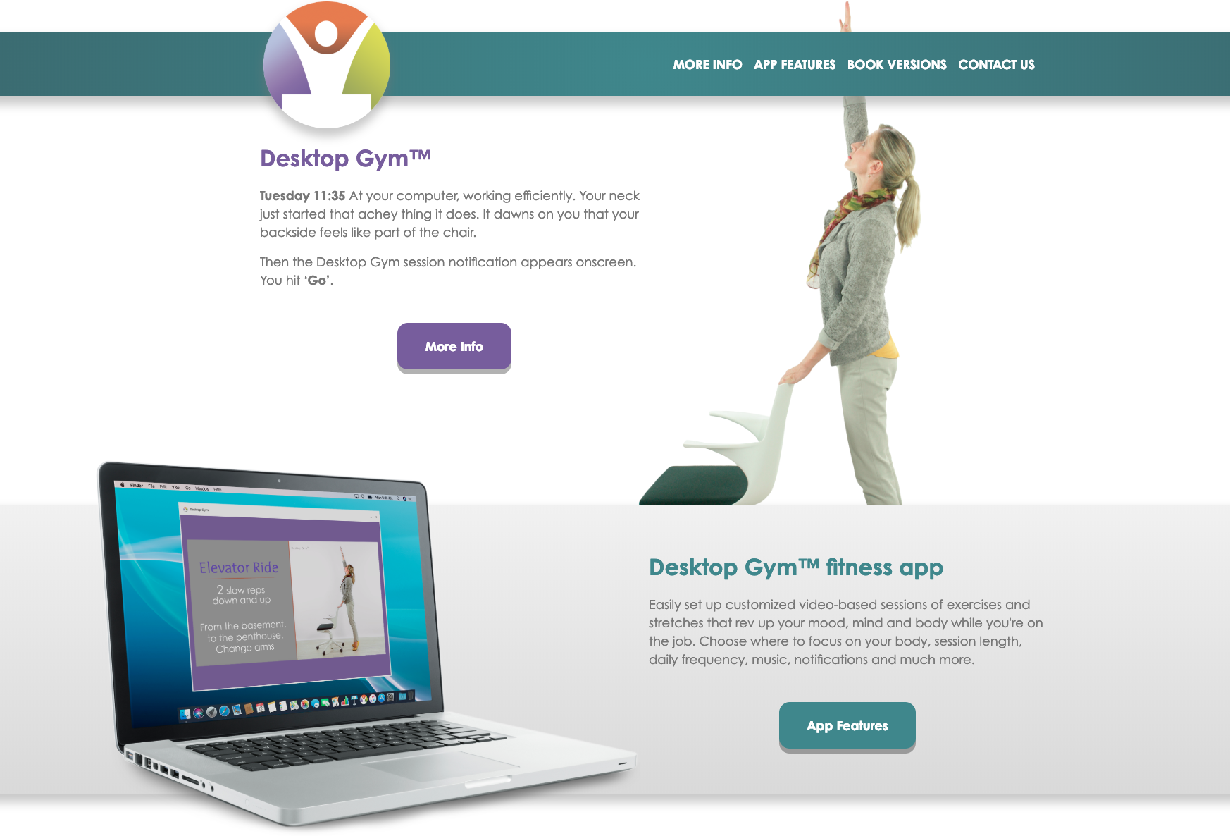 Desktop Gym website
