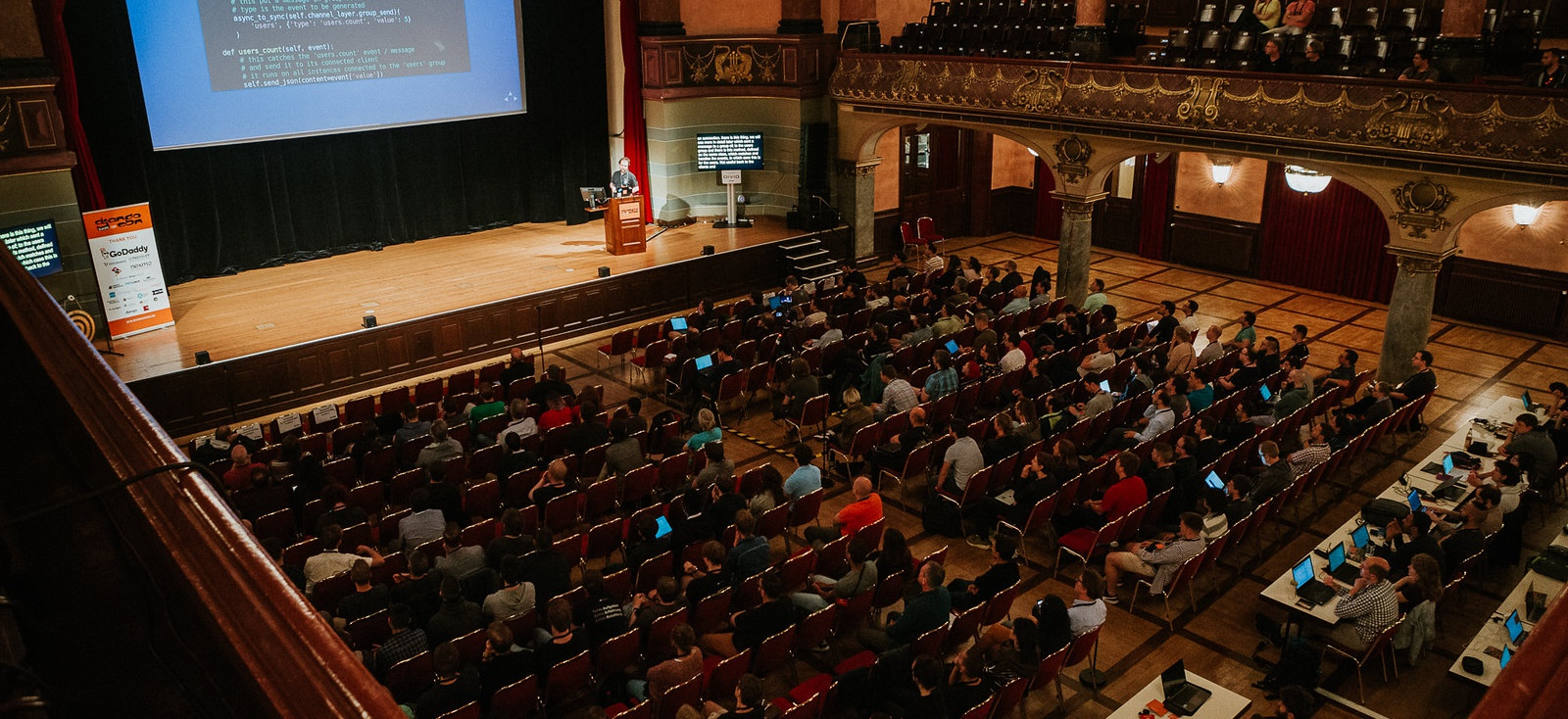 "Iacopo a DjangoCon Europe con il talk ""Real time applications with Django"""