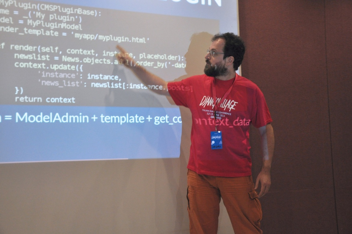 Iacopo Spalletti's talk at DjangoVillage